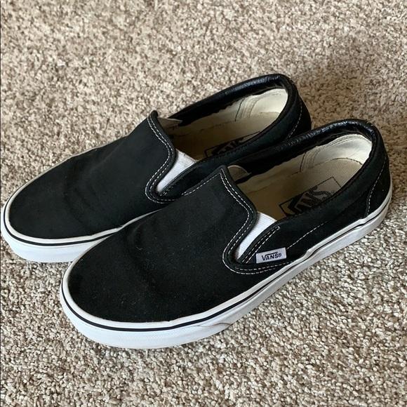 Vans Classic Slip Ons Black Size 7